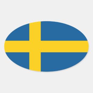 222be6a1 Swedish flag oval car sticker | Flag of Sweden