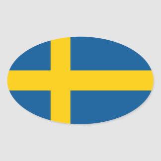 Swedish flag oval car sticker | Flag of Sweden