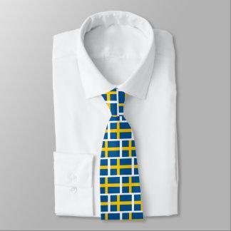 Swedish flag pattern neck tie for Sweden fans