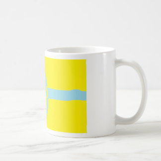 Swedish Flag Peace Symbol Classic White Coffee Mug