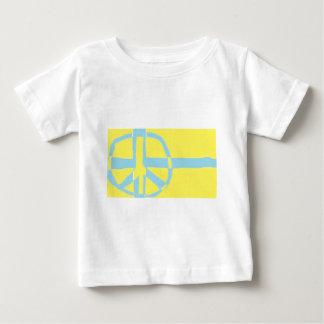 Swedish Flag Peace Symbol Tee Shirt