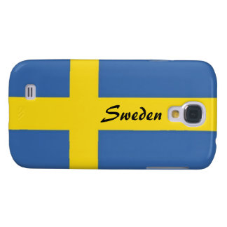 Swedish Flag-Personalize Text Galaxy S4 Cover