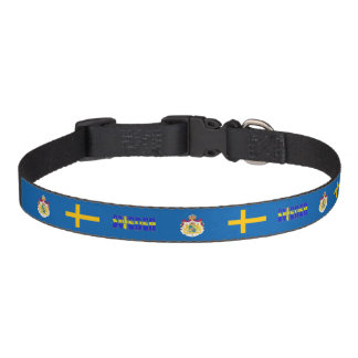Swedish flag pet collar