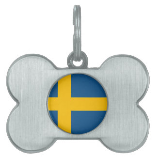 Swedish Flag Pet ID Tag