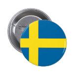 Swedish Flag Pinback Buttons