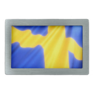 SWEDISH FLAG RECTANGULAR BELT BUCKLE