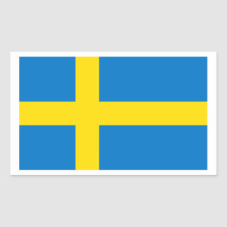 Swedish Flag Rectangular Sticker