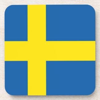 Swedish Flag Scandinavian Beverage Coaster