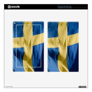 Swedish flag decals for kindle fire