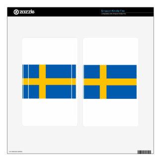 Swedish Flag Kindle Fire Skins