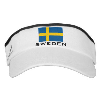 Swedish flag sports sun visor cap hat
