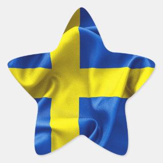 Swedish Flag Star Stickers