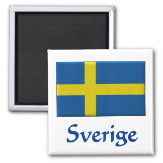 Swedish Flag  Sverige Magnet