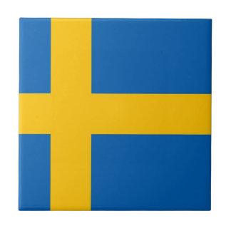 Swedish Flag Ceramic Tiles