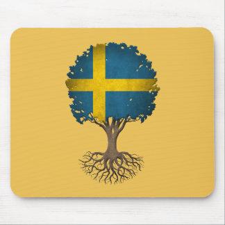 Swedish Flag Tree of Life Customizable Mouse Pad