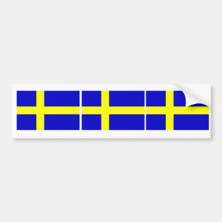 Swedish Flag Trio Bumper Sticker