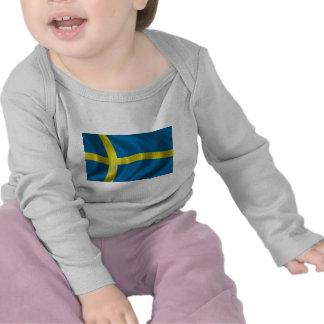 Swedish Flag T Shirts