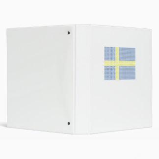 Swedish Flag w å + filler - Binder