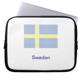Swedish Flag w å + filler - Laptop Case (Sweden) Laptop Sleeves