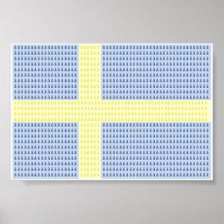 Swedish Flag w å + filler - Poster