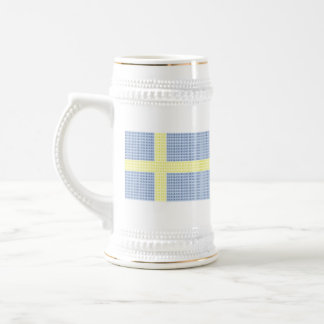 Swedish Flag w å + filler - Stein (Gold) Coffee Mugs