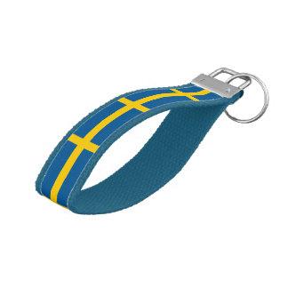 Swedish flag wrist keychain