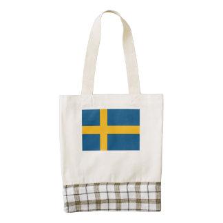 Swedish Flag Zazzle HEART Tote Bag