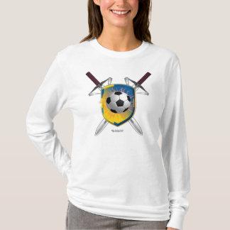 Swedish Football Shield Ladies Long Sleeve Shirt