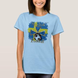 Swedish Football Spice Ladies Babydoll T-Shirt