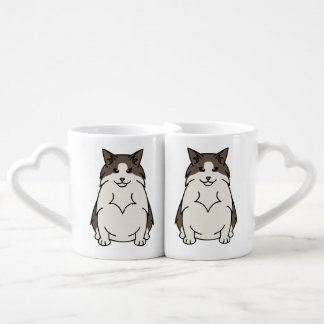 Swedish Forest Cat Cartoon Couples Coffee Mug