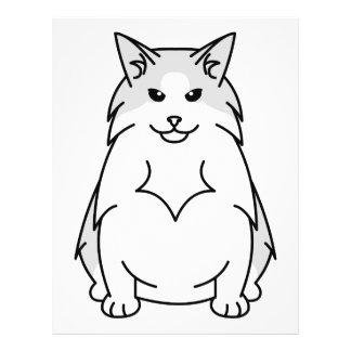 Swedish Forest Cat Cartoon Flyer