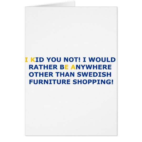 Swedish Furniture Shopping Card