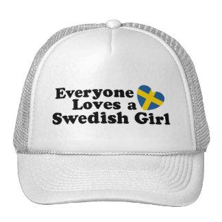 Swedish Girl Trucker Hats