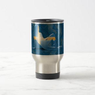 Swedish Girl Silhouette Flag 15 Oz Stainless Steel Travel Mug