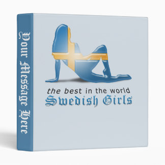Swedish Girl Silhouette Flag Binder