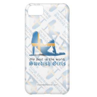 Swedish Girl Silhouette Flag Cover For iPhone 5C