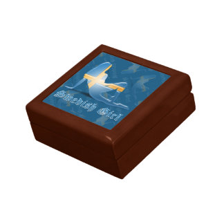 Swedish Girl Silhouette Flag Jewelry Box