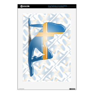 Swedish Girl Silhouette Flag PS3 Console Skins