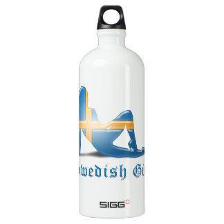 Swedish Girl Silhouette Flag SIGG Traveler 1.0L Water Bottle