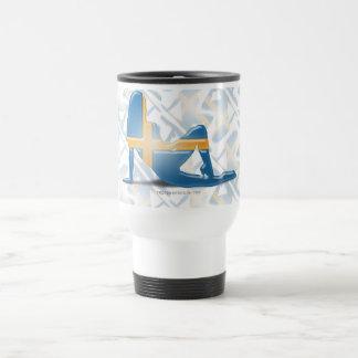 Swedish Girl Silhouette Flag Travel Mug