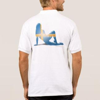 Swedish Girl Silhouette Flag Tee Shirt