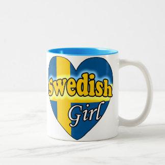 Swedish Girl Two-Tone Coffee Mug