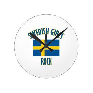 Swedish girls rock DESIGNS Round Clock