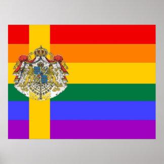 Swedish GLBT Pride Flag Poster