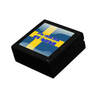 Swedish glossy flag keepsake box