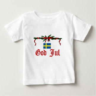 Swedish God Jul (Merry Christmas) Baby T-Shirt