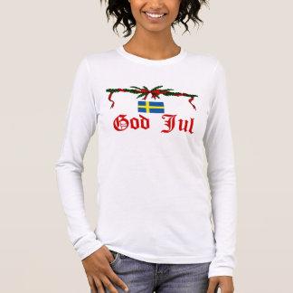 Swedish God Jul (Merry Christmas) Long Sleeve T-Shirt