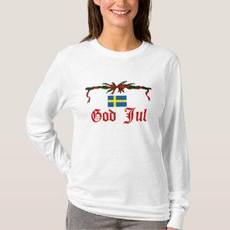 Swedish God Jul (Merry Christmas) T-Shirt