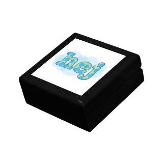 Swedish - Hej with argyle pattern Jewelry Box