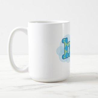 Swedish - Hej with argyle pattern zazzle_mug